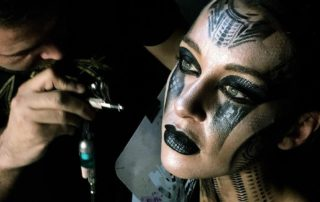cyborg makeup carnival Venezia
